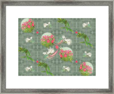 Lively Rolling Phlox And Leaves From Oil Painting Framed Print by Nancy Lee Moran