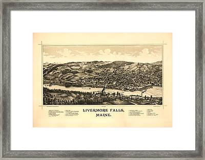 Livermore Falls Maine Framed Print