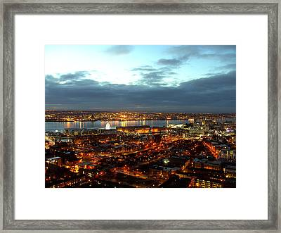 Liverpool City And River Mersey Framed Print