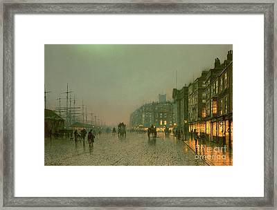 Liverpool Docks From Wapping Framed Print