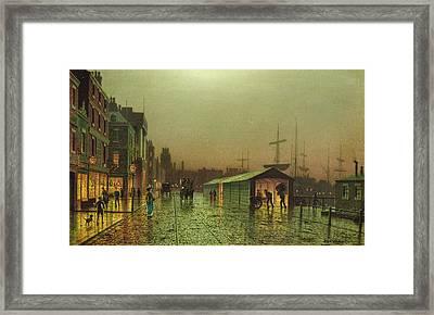 Liverpool Docks Framed Print by John Atkinson Grimshaw