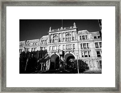 Liverpool Exchange Station Former Railway Station Now Offices In The Commercial District Uk Framed Print by Joe Fox