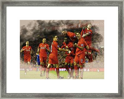 Liverpool V Leicester City Framed Print