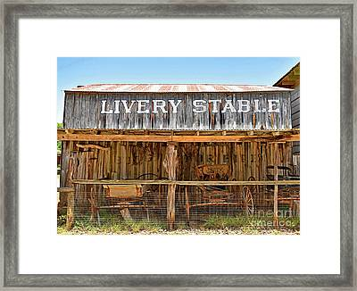Livery Stable Framed Print by Ray Shrewsberry