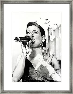 Livia In Watercolor Framed Print