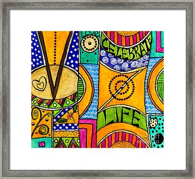 Living A Vibrant Life Framed Print by Angela L Walker