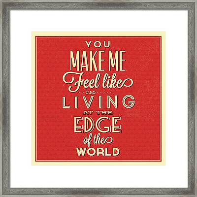 Living At The Edge Framed Print by Naxart Studio