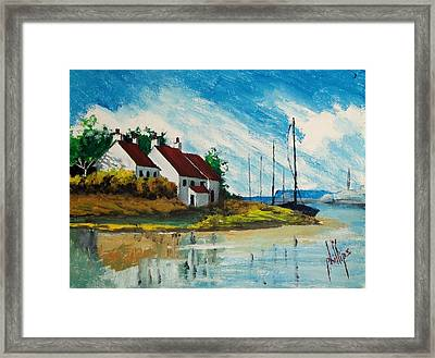 Living At The Mouth Of The White Oak River Framed Print