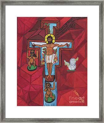 Living Christ Ascending Framed Print