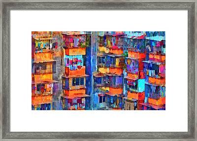 Living Crowd - Da Framed Print