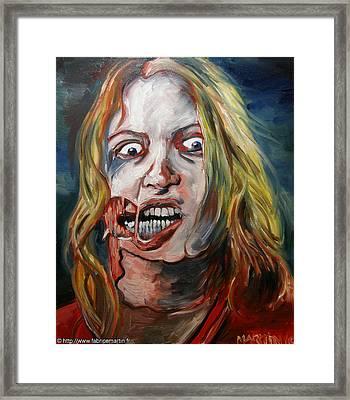 Living Dead Girl By Fabrice Martin Framed Print