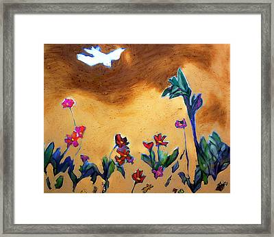 Framed Print featuring the painting Living Earth by Winsome Gunning