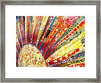 Living Edgewater Mosaic Framed Print by Kyle Hanson