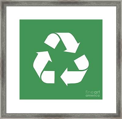 Living Green, White Reduce, Reuse, Recycle, Repurpose Framed Print