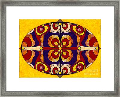 Living In A Mandala Abstract Bliss Art By Omashte Framed Print