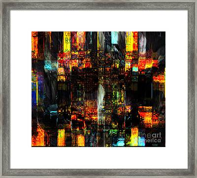 Living In Fragments Framed Print by Fania Simon