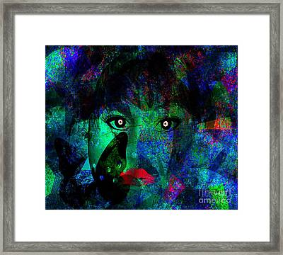 Living In My Art World Framed Print by Fania Simon