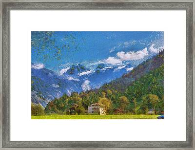 Living In The Foot Of The Swiss Alps Framed Print