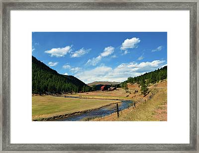 Living In The Valley Framed Print by Angelina Vick