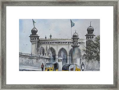 Living Legend Mecca Mazjid Framed Print