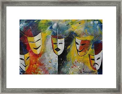 Living Masks Framed Print
