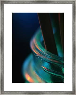 Living On The Edge... Framed Print