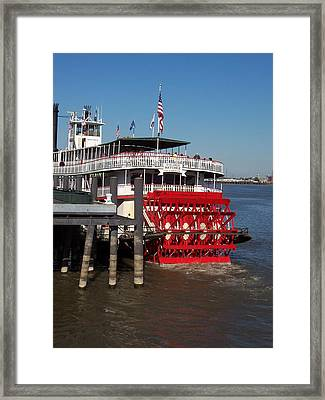 Living On The Mississippi Framed Print