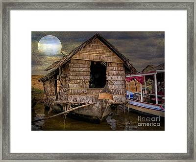 Living On The River Framed Print by Adrian Evans