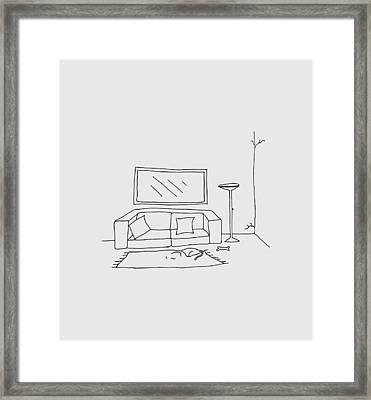 Living Room 001 Framed Print