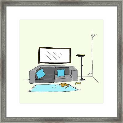 Living Room 002 Framed Print