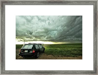 Living Saskatchewan Sky Framed Print