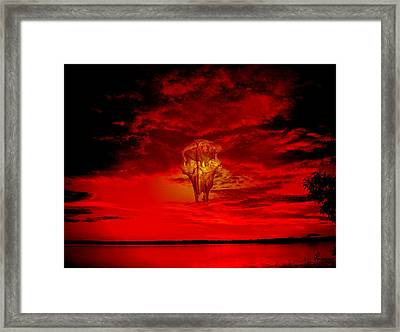 Living Sky Framed Print by Andrea Lawrence