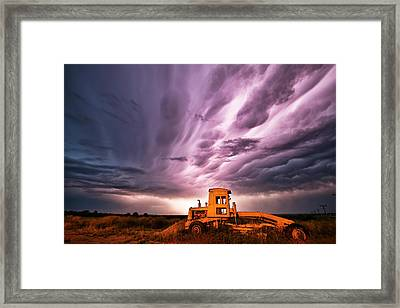 Living Sky In Nebraska Framed Print