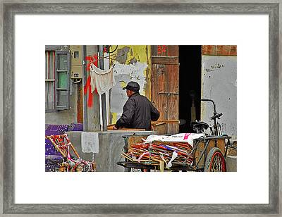 Living The Old Shanghai Life Framed Print by Christine Till