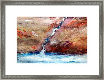 Living Water Framed Print by Winsome Gunning