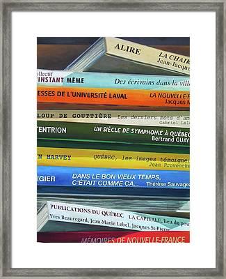 Livres ... Framed Print