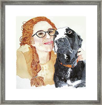 Livvy And Amos Framed Print
