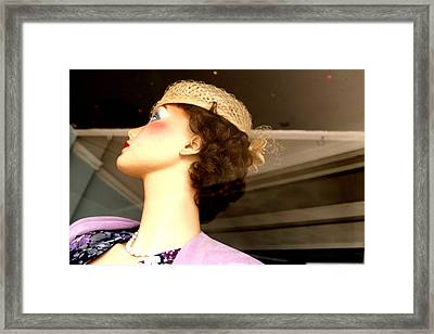 Liz Being Offish Framed Print by Jez C Self