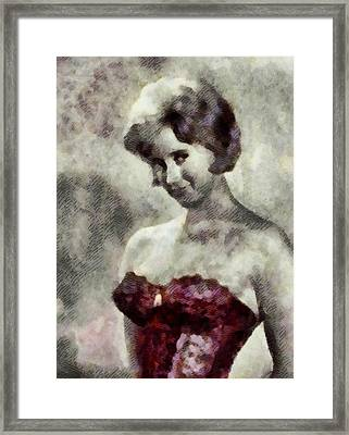 Liz Fraser, Carry On Actress Framed Print by John Springfield