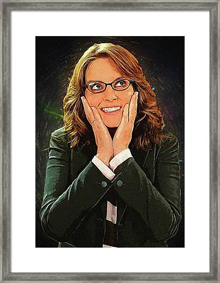 Liz Lemon Framed Print by Semih Yurdabak