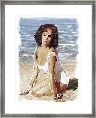 Liz Framed Print by Russell Pierce