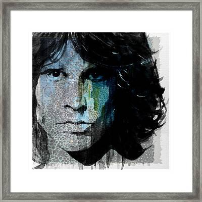 Lizard King  Jim Morrison  Framed Print