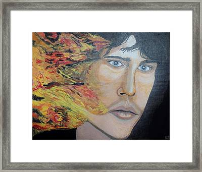 Lizard King Light My Fire. Framed Print by Ken Zabel