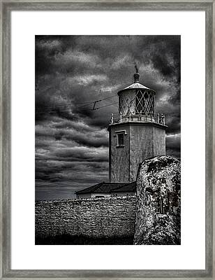 Lizard Lighthouse Cornwall Framed Print by Martin Newman