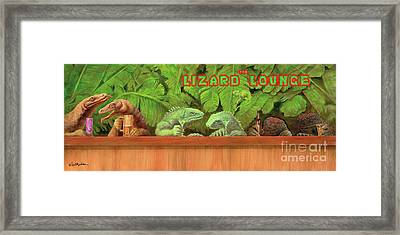 Lizard Lounge... Framed Print by Will Bullas
