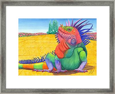 Lizard Of Oz Framed Print by Catherine G McElroy