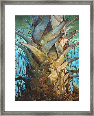Framed Print featuring the painting Lizards And Boots by AnnaJo Vahle