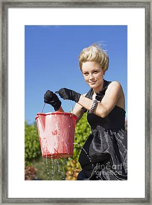 Lizas Leaking Bucket Framed Print by Jorgo Photography - Wall Art Gallery