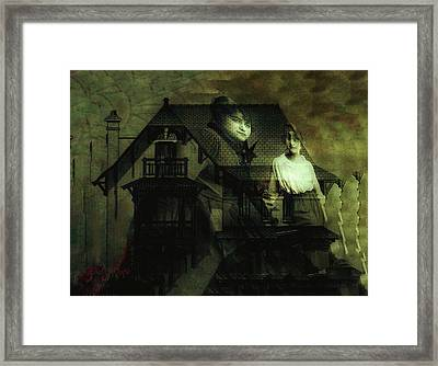 Framed Print featuring the digital art Lizzie And Her Sister by Delight Worthyn