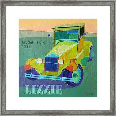 Lizzie Model T Framed Print